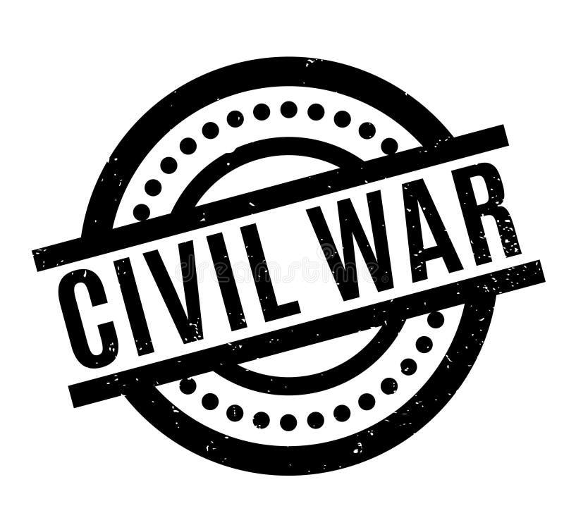Carimbo de borracha da guerra civil ilustração royalty free