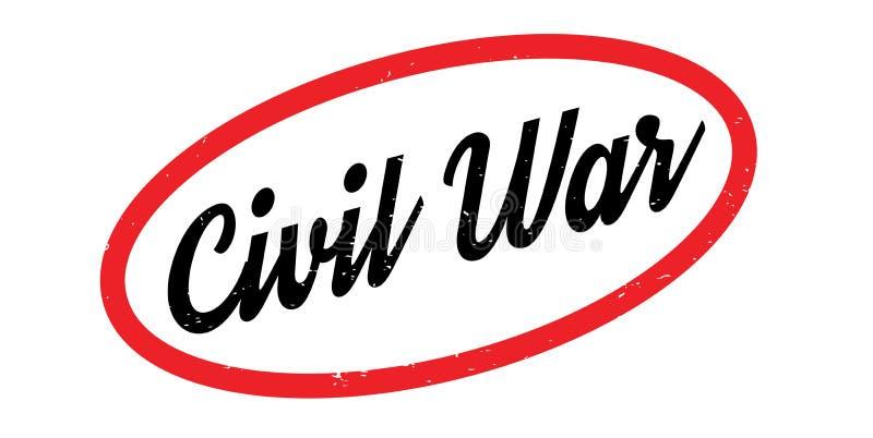 Carimbo de borracha da guerra civil ilustração stock