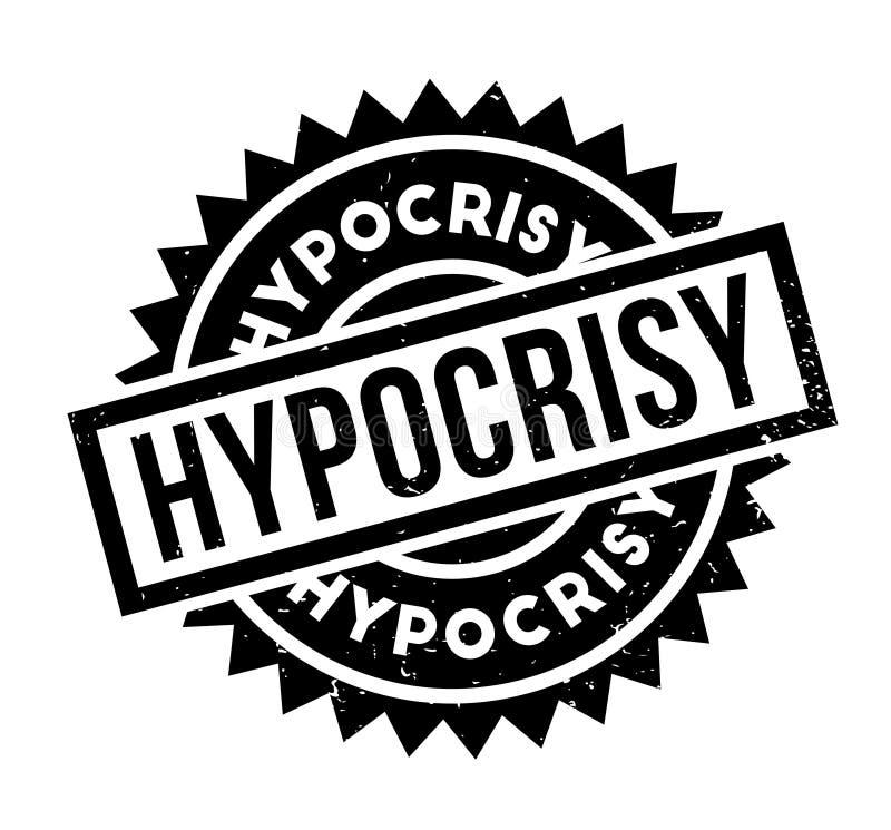 Carimbo de borracha da hipocrisia ilustração royalty free