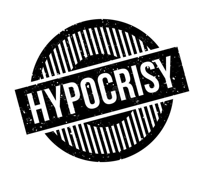 Carimbo de borracha da hipocrisia ilustração do vetor
