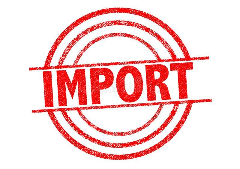 Carimbo de borracha da importação ilustração royalty free