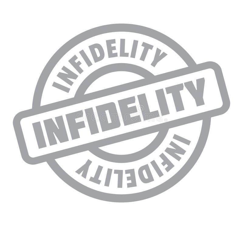 Carimbo de borracha da infidelidade ilustração royalty free