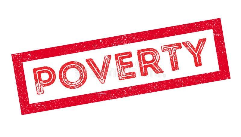 Carimbo de borracha da pobreza ilustração do vetor