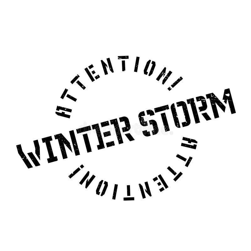Carimbo de borracha da tempestade do inverno imagem de stock