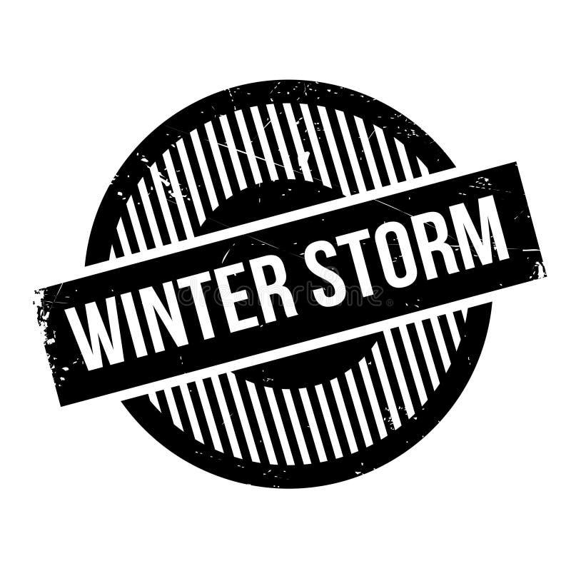 Carimbo de borracha da tempestade do inverno imagens de stock