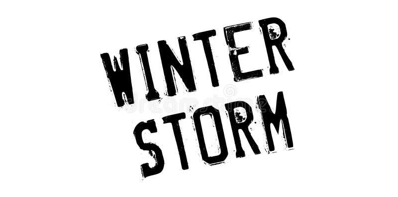 Carimbo de borracha da tempestade do inverno fotos de stock