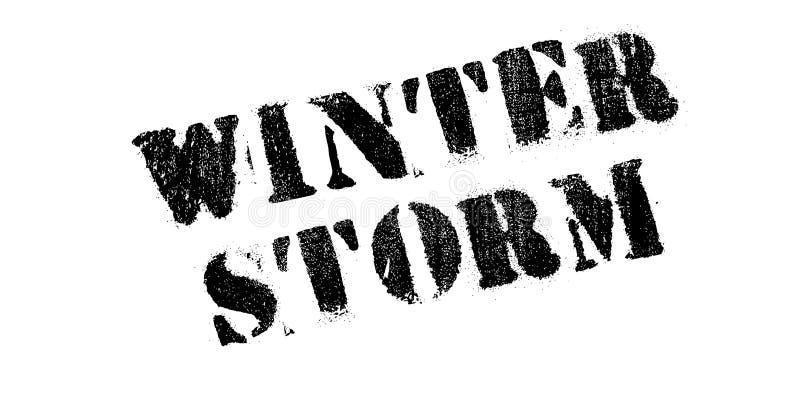 Carimbo de borracha da tempestade do inverno imagens de stock royalty free