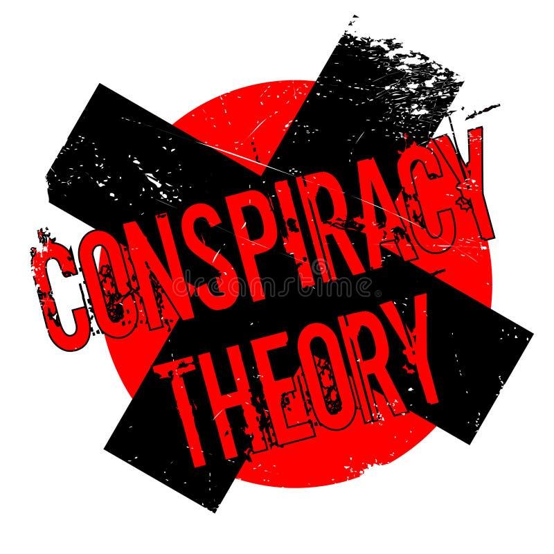 Carimbo de borracha da teoria de conspiração ilustração stock