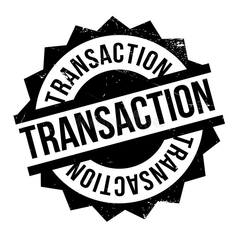 Carimbo de borracha da transação ilustração stock