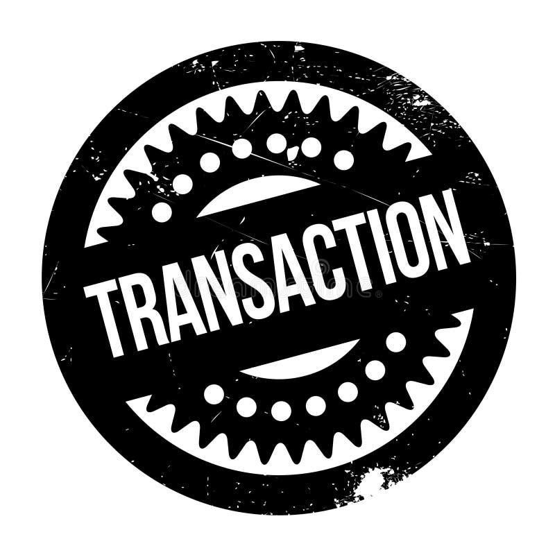 Carimbo de borracha da transação ilustração do vetor
