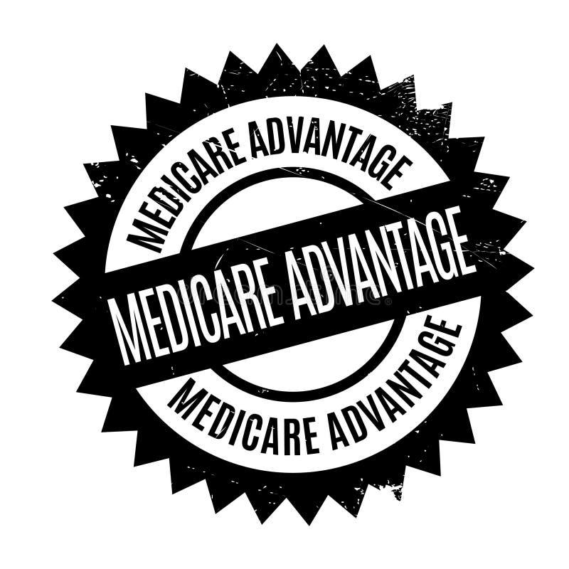 Carimbo de borracha da vantagem de Medicare ilustração stock