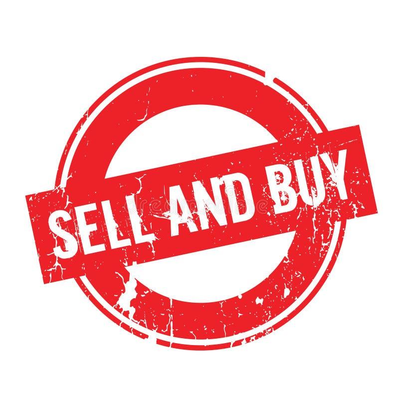 Carimbo de borracha da venda e da compra ilustração do vetor