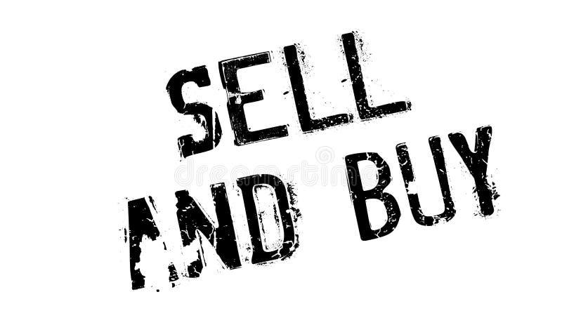 Carimbo de borracha da venda e da compra ilustração stock