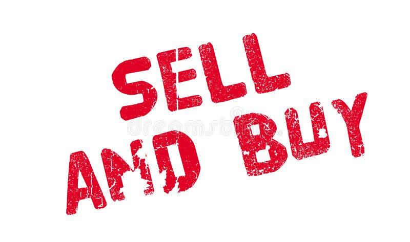 Carimbo de borracha da venda e da compra ilustração royalty free