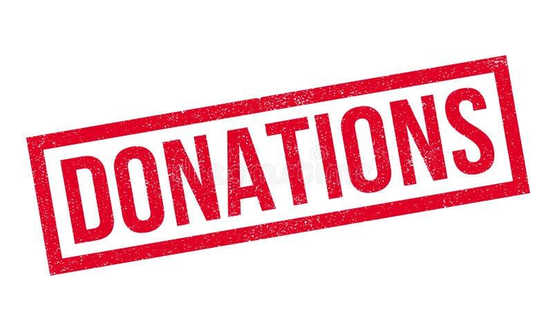 Carimbo de borracha das doações ilustração do vetor