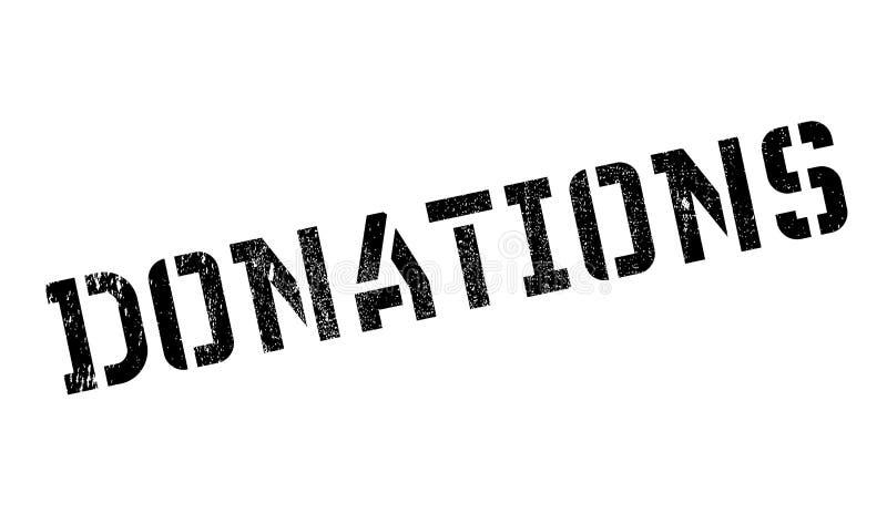 Carimbo de borracha das doações ilustração royalty free