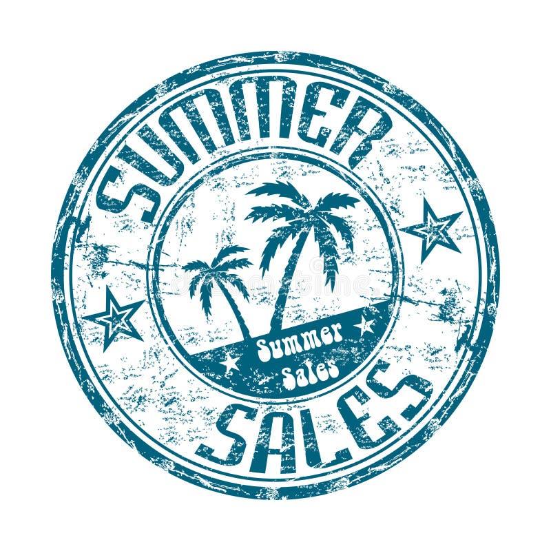 Carimbo de borracha das vendas do verão ilustração stock