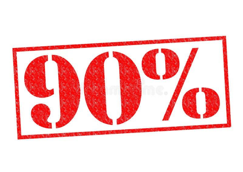 Carimbo de borracha de 90% ilustração royalty free