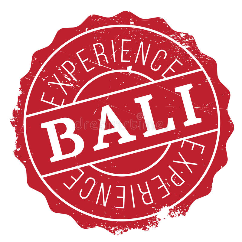 Carimbo de borracha de Bali ilustração royalty free