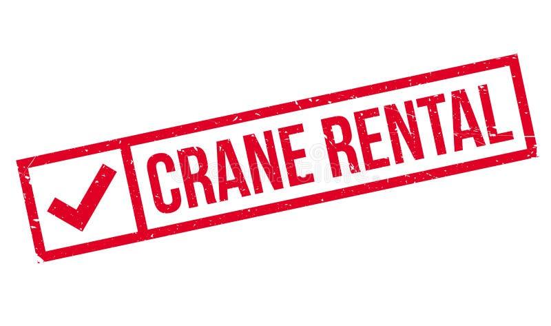 Carimbo de borracha de Crane Rental ilustração royalty free