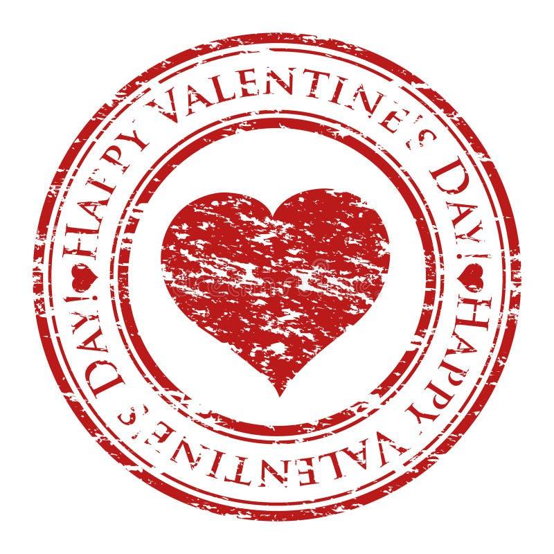 Carimbo de borracha de Grunge com coração e texto ilustração royalty free
