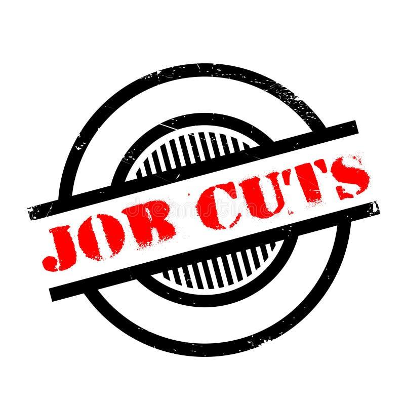 Carimbo de borracha de Job Cuts ilustração royalty free