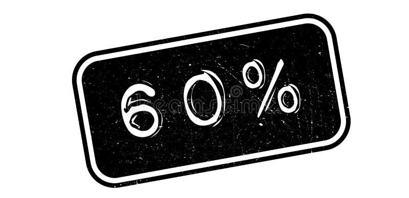 carimbo de borracha de 60 por cento ilustração royalty free