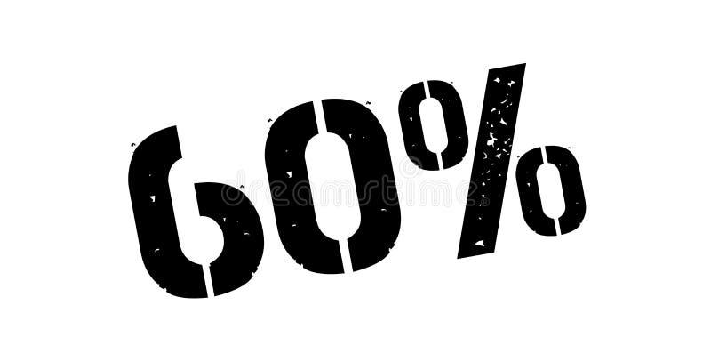 carimbo de borracha de 60 por cento ilustração do vetor