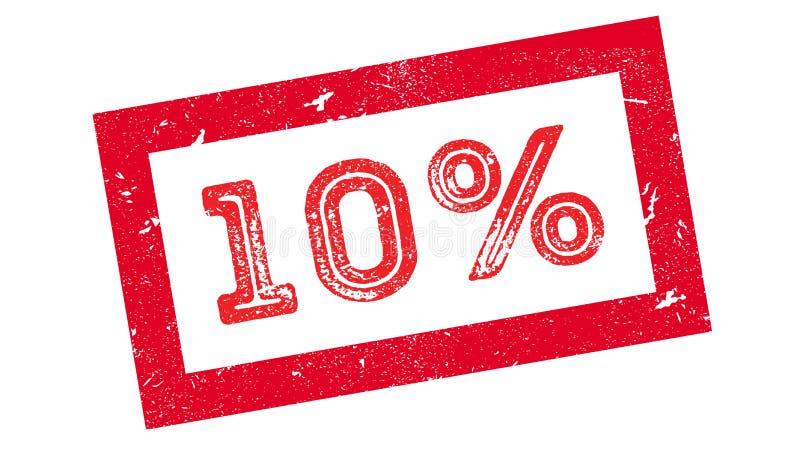 carimbo de borracha de 10 por cento ilustração do vetor