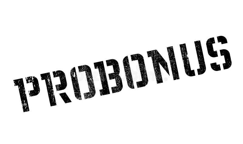 Carimbo de borracha de Probonus fotografia de stock royalty free