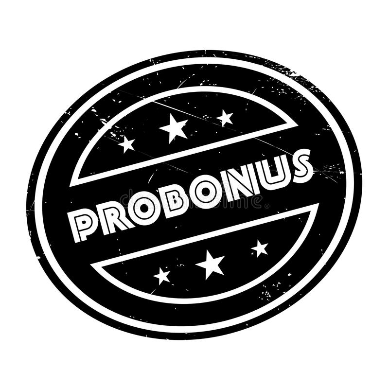 Carimbo de borracha de Probonus fotos de stock