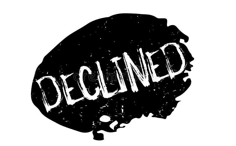 Carimbo de borracha declinado ilustração do vetor