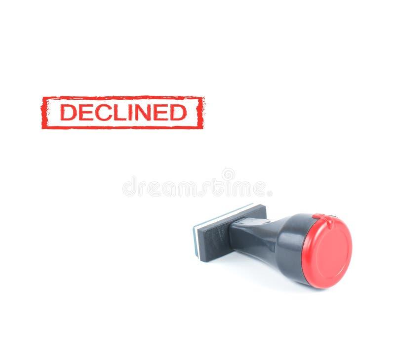 Carimbo de borracha declinado imagem de stock