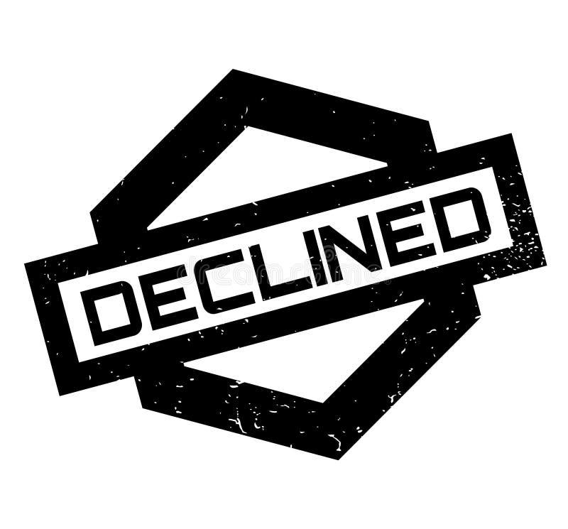 Carimbo de borracha declinado ilustração stock