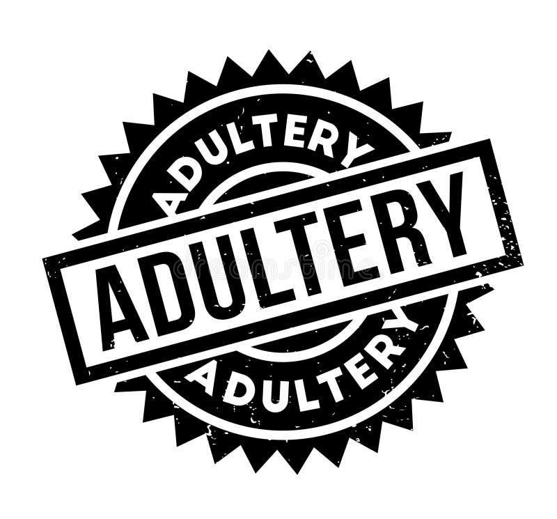 Carimbo de borracha do adultèrio ilustração stock