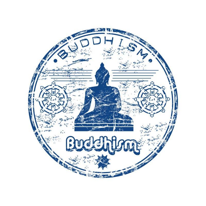 Carimbo de borracha do Buddhism ilustração royalty free