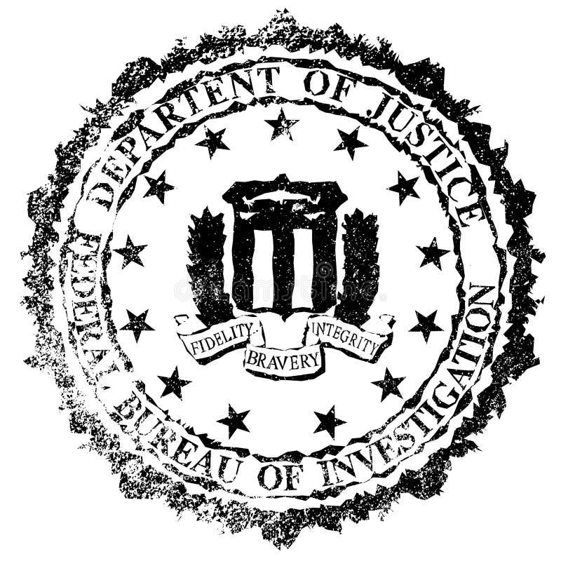 Carimbo de borracha do FBI ilustração do vetor