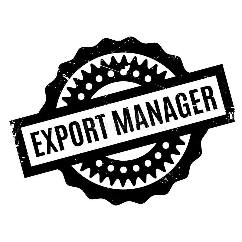 Carimbo de borracha do gerente de exportação ilustração do vetor