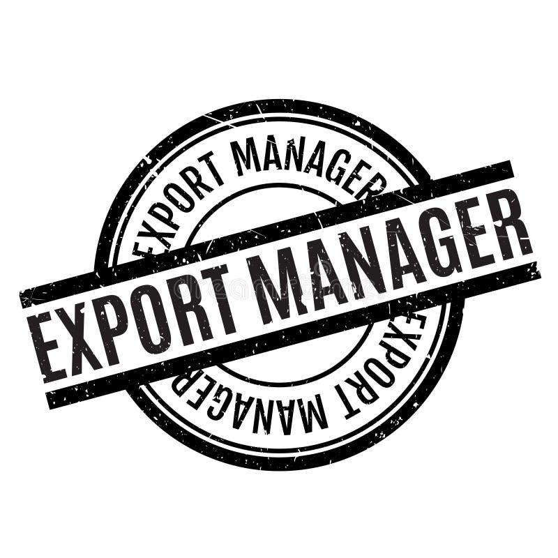 Carimbo de borracha do gerente de exportação ilustração stock