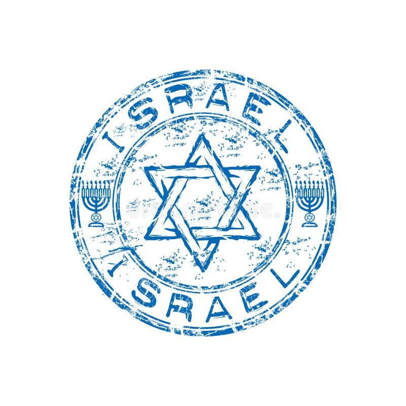Carimbo de borracha do grunge de Israel ilustração do vetor
