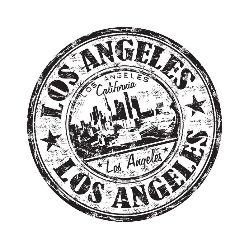Carimbo de borracha do grunge de Los Angeles ilustração do vetor