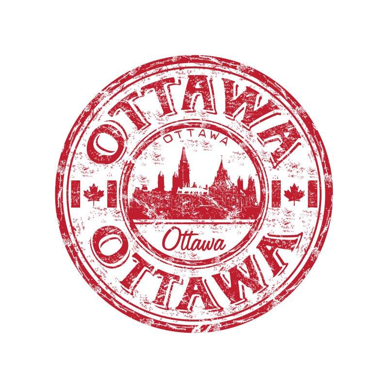 Carimbo de borracha do grunge de Ottawa ilustração do vetor