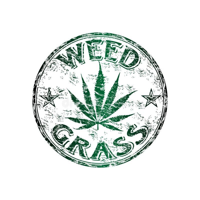 Carimbo de borracha do grunge de Weed ilustração royalty free