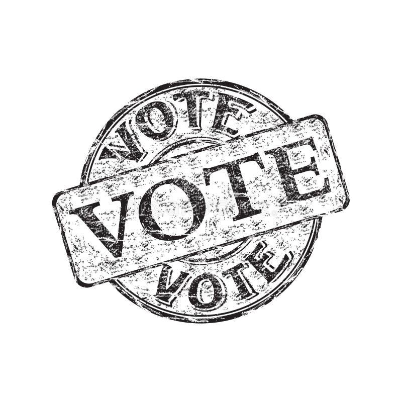 Carimbo de borracha do grunge do voto ilustração do vetor