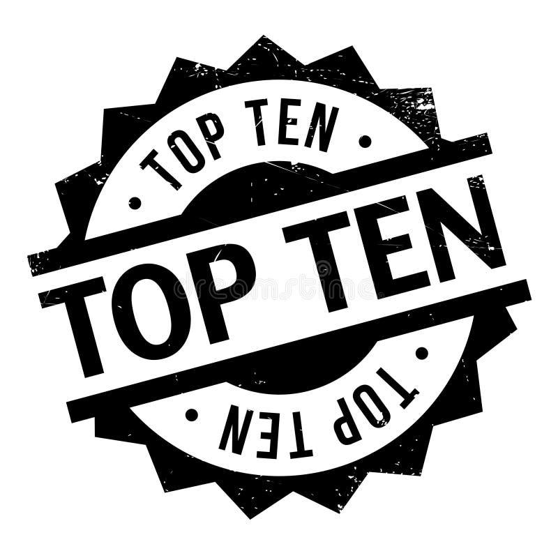 Carimbo de borracha do Top Ten imagem de stock royalty free