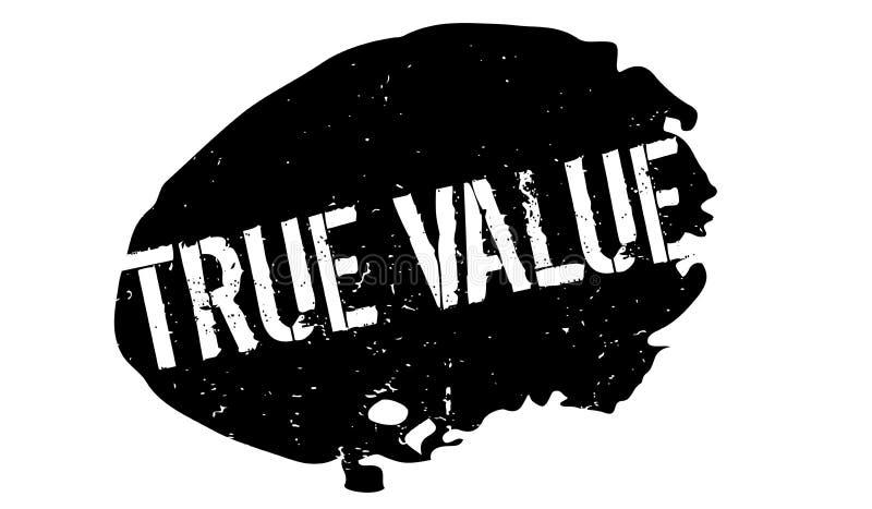 Carimbo de borracha do valor verdadeiro ilustração royalty free