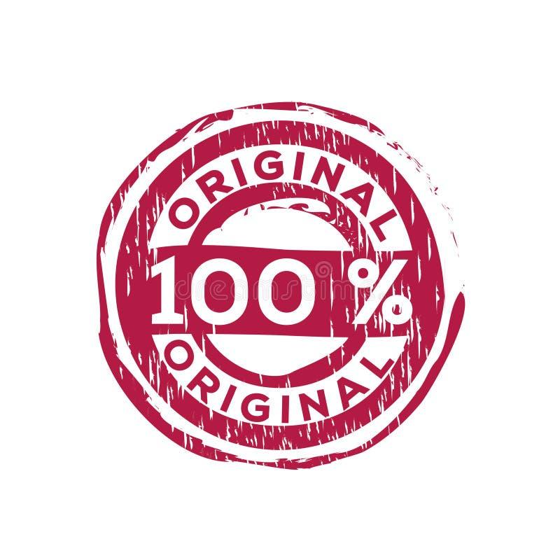 carimbo de borracha do vetor do original de 100% ilustração do vetor