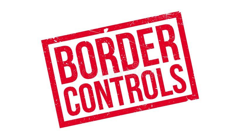 Carimbo de borracha dos controlos de fronteiras ilustração royalty free