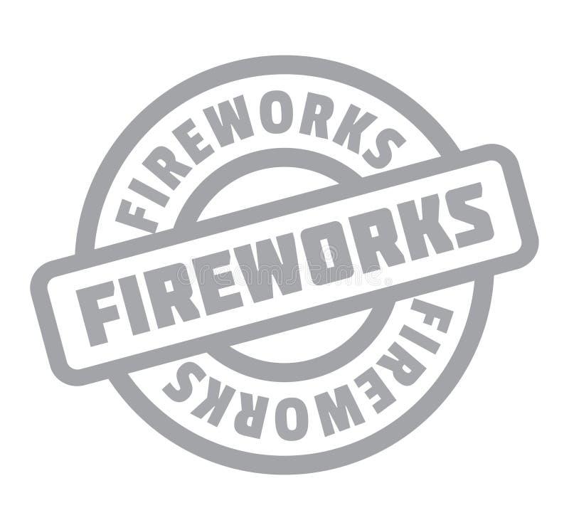 Carimbo de borracha dos fogos-de-artifício ilustração stock