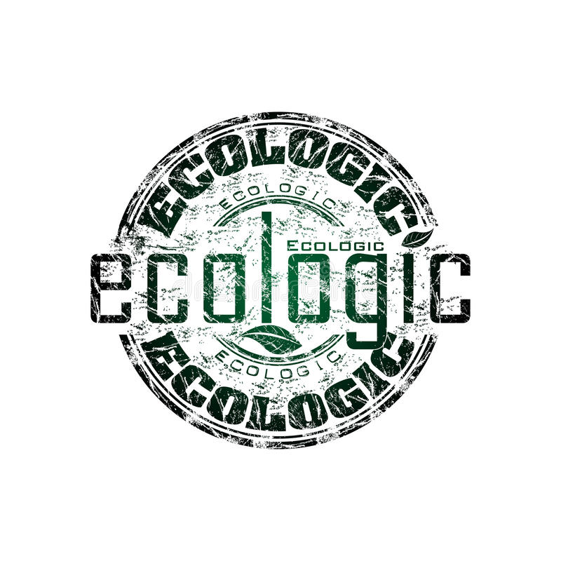 Carimbo de borracha ecológico ilustração stock